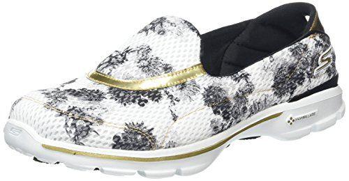 Skechers GO Walk 3Gold Rush, Damen Sneakers, Weiß (WBGD), 35 EU - http://on-line-kaufen.de/skechers/35-eu-skechers-damen-go-walk-3-gold-rush-sneakers-5