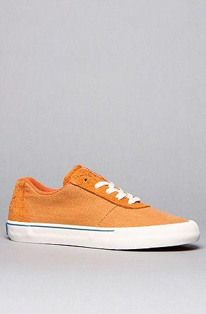 SUPRA The Cuttler Low Sneaker in Vintage Orange Suede Blue.