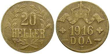 German East Africa, 20 Heller 1916, Tabora. Me. J. 724b. Ritter, special list