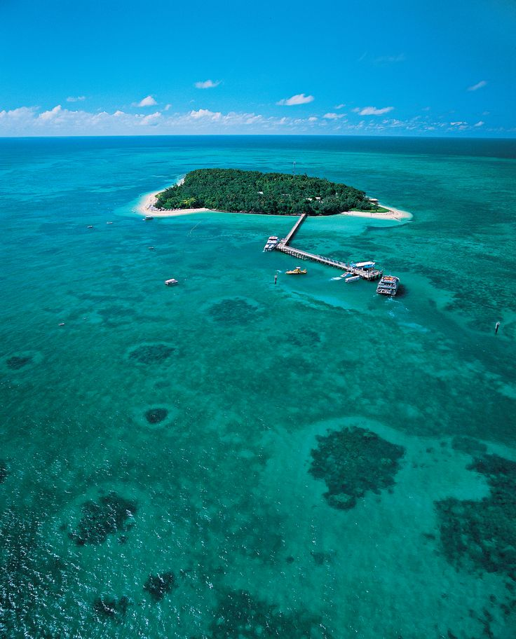 Green Island, 17 miles offshore from Cairns, Queensland, Australia. Located within the Great Barrier Reef Marine Park World Heritage Area.