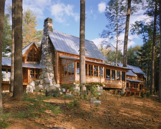 By Whitten Architects Love That Fireplace Rustic Cabin