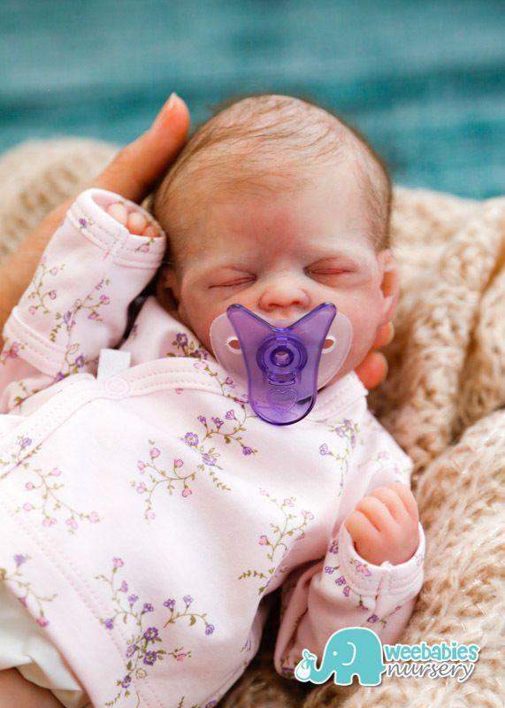 "Micro Preemie ""HOPE"" Solid Full Body Silicone Baby Doll - Weebabies Nursery"