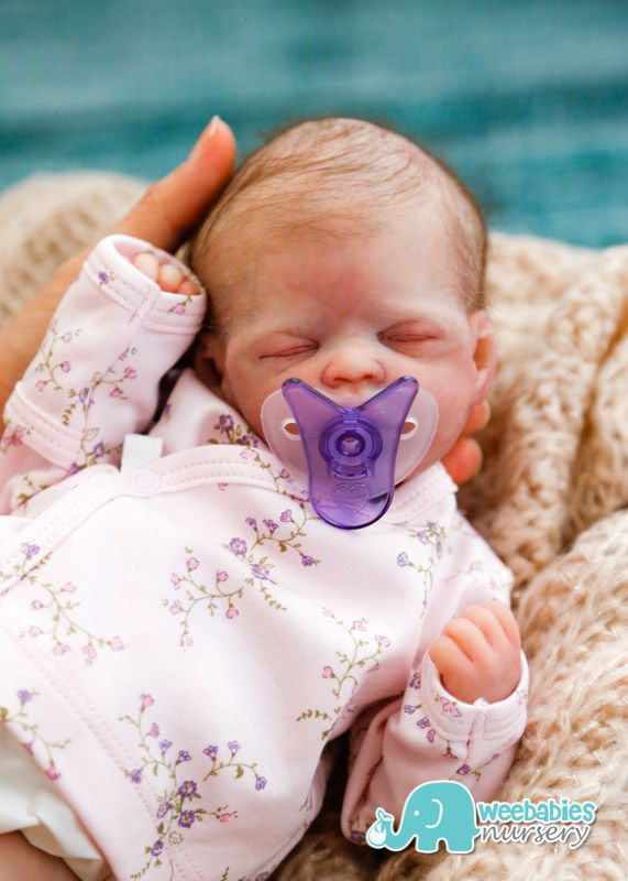 Micro Preemie  HOPE  Solid Full Body Silicone Baby Doll - Weebabies Nursery  | eBay