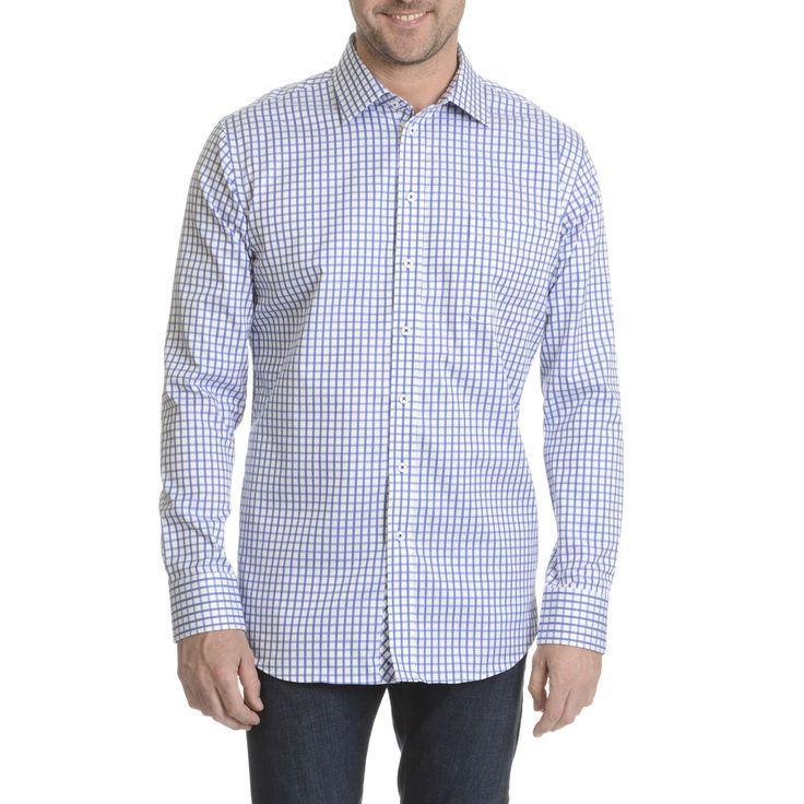 Daniel Hechter Men's Checker-patterned Classic Fit Dress Shirt