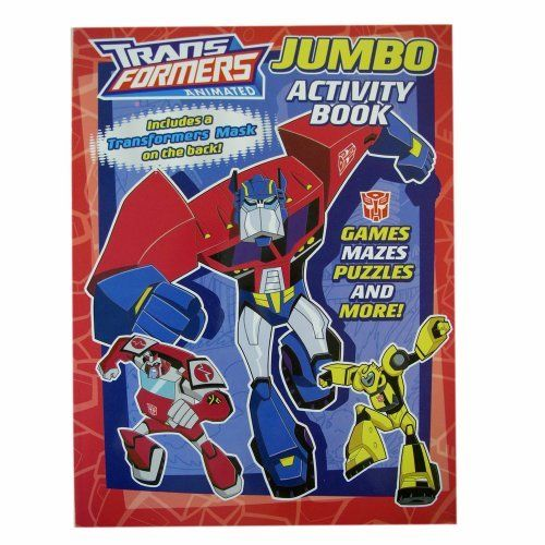 """Transformers Coloring Book - Hasbro Transformers Jumbo Coloring And Activity Books With Bonus Mask (1 Book) by Transformers. $4.99. Officially licensed Hasbro product manufactured by bendon. Measures approximately 10""""HX8""""W. Comes with cut-out activities on the back of the book. A great way to keep kids entertained with these activity books featuring the hasbro Transformers characters. Comes with assorted designs picked at random. Brand new"""