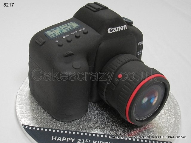 Happy Snapper Cake Canon Slr Camera Novelty Shaped Cake