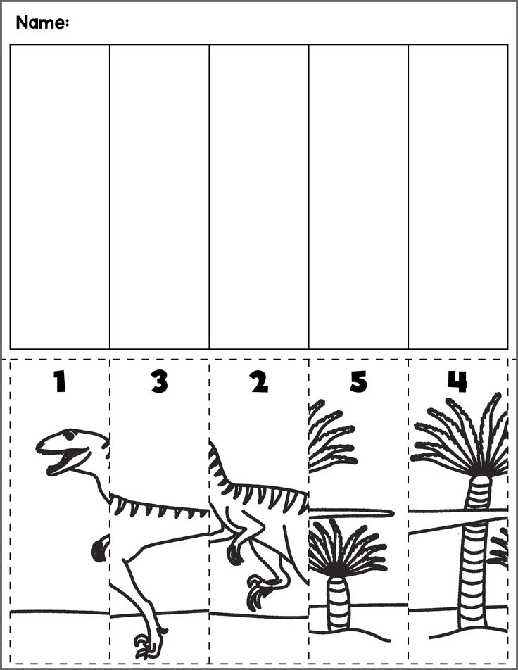 Dinosaur Scene Number Sequence | Group 5 | Preschool ...