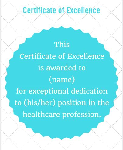Certificate Wording for Healthcare: Examples for awards of excellence and achievement, appreciation, training completion and more! | from PaperDirect