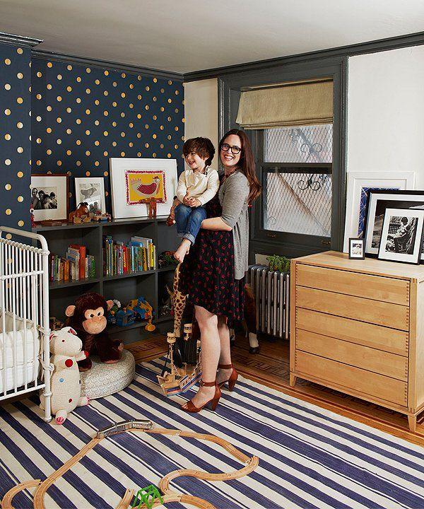 25 best ideas about gold polka dot wallpaper on pinterest - Brooklyn apartment interior design ...