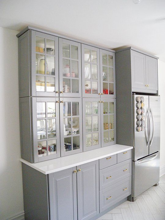 ikea grey kitchen cabinets glass front kitchen cabinets kitchen ideas