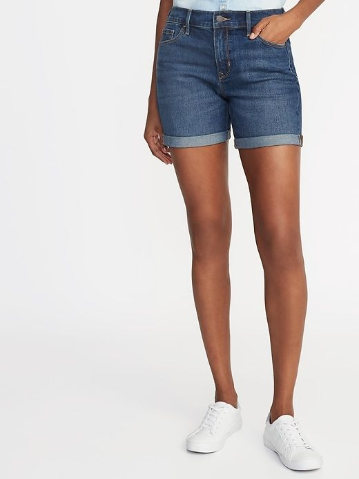 0768ccc468 Old Navy Slim Denim Midi Shorts for Women (5 ) in 2019 | Products ...