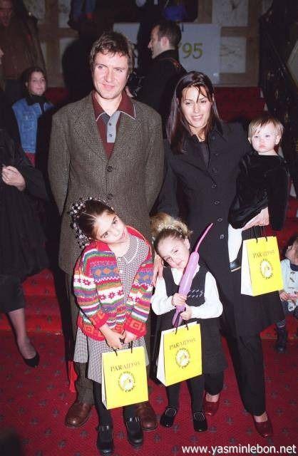 Simon, Yasmin, Amber, Saffron and Tallulah Le Bon 1995 AIDS Benefit