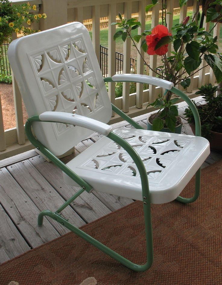 Chair426 best Antique Metal Chairs I love love love  images on  . Antique Motel Chairs. Home Design Ideas