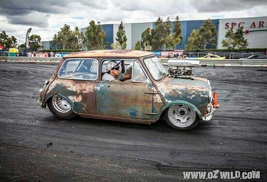 Drag racing rat rod mini blower