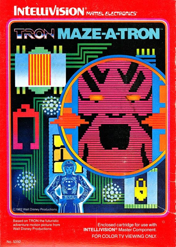 TRON game - I didn't get this one at all...very abstract gaming for the 80's