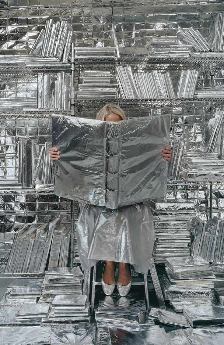 """Lost in my life"" (wrapped books), deCordova Sculpture Park and Museum in Lincoln by Artist Rachel Perry Welty"