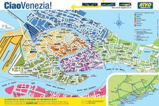 Map of Venice, Italy