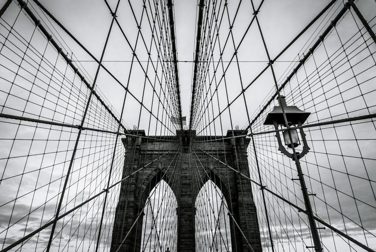 Brooklyn Bridge detail by Mirco Balboni
