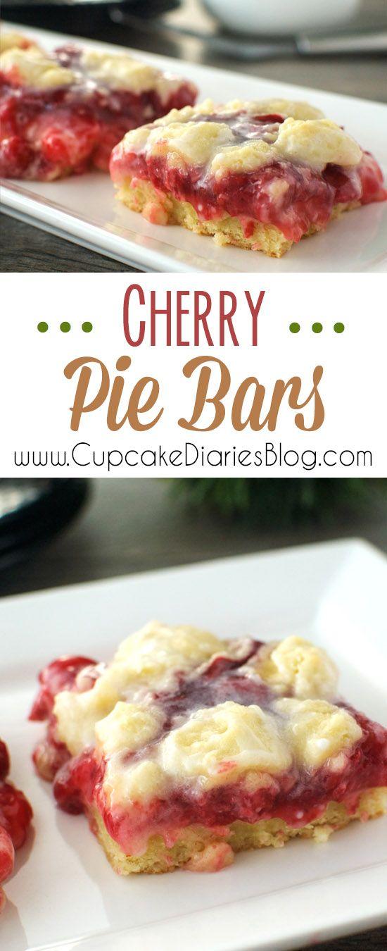 Cherry Pie Bars | Cupcake Diaries