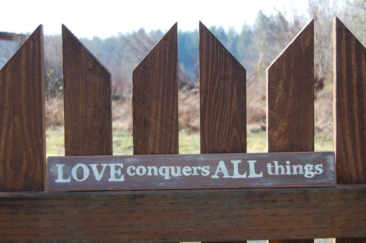 Love Sign, Romantic Wedding Signs,  Bedroom Wall Art, Lightweight Primitive Country Wall Art by CreakingAlderFarm on Etsy