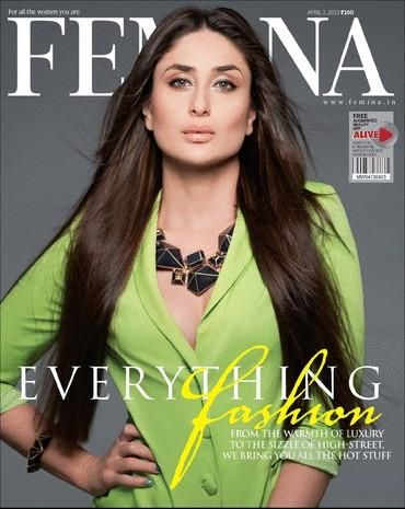 Kareena Kapoor on the cover of Femina (April 2013) | Photos Celebrities Movies Indian Television News Videos