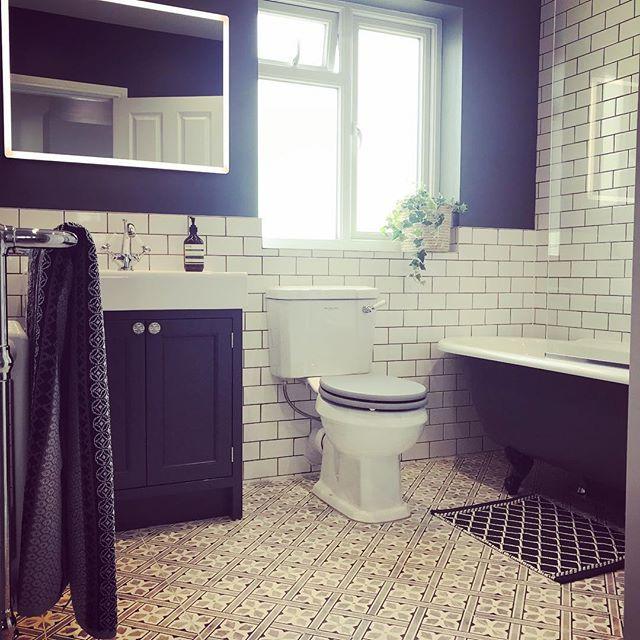 Laura Ashley Mr Jones Charcoal Wall Floor Tiles 33x33cm Bathroom Floor Tiles Room Flooring Bathroom Flooring