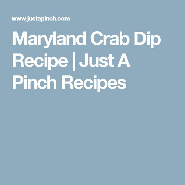 Maryland Crab Dip Recipe   Just A Pinch Recipes