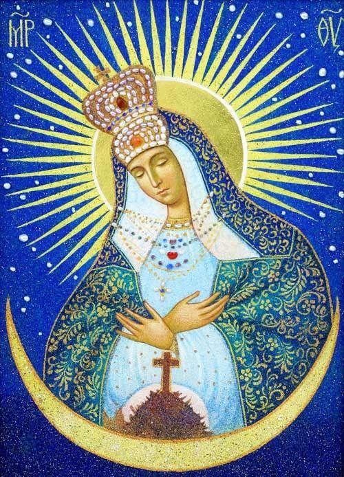 Mother of God of the Gate of Dawn http://catalog.obitel-minsk.com/07-11-bozhija-mater-ostrobramskaja.html #Orthodox #Icons - #OrthodoxIcons - #Eastern #Orthodoxy, #Theotokos, #VirginMary, #Miracle, #Blessed #Faith