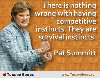 Pat Summitt is a former women's college basketball head coach. She now serves as the head coach emeritus of the University of Tennessee Lady Vols basketball team. She holds the record for the most all-time wins for a coach in NCAA basketball history of either a men's or women's team in any division. She coached from 1974 to 2012, always with the Lady Vols, winning eight NCAA championships. www.TucsonHoops.com