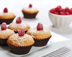 Muffins aux framboises et caramel au beurre salé
