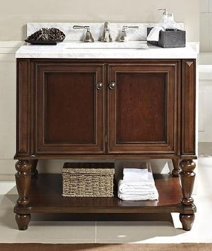 36 Inch Vanity With Open Shelf On Bottom Google Search Bathrooms Pinterest Shelves