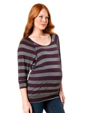 A Pea in the Pod: 3/4 Sleeve Scoop Neck Banded Bottom Maternity T Shirt A Pea in the Pod. $39.99