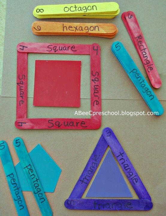 GÉOMÉTRIE: Apprendre les formes géométriques avec des bâtonnets de glace!