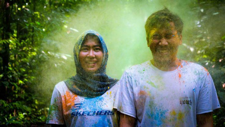 Holy powder shoot 3 #prewedding #wedding #run #holyshoot #indonesian #bogor