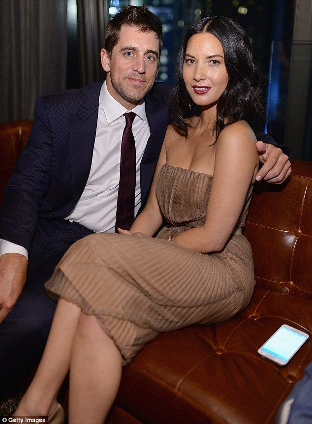 New love: The Newsroom star has been dating NFL player Aaron Rodgers since May. They are p...