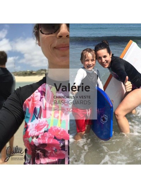 Jalie Sewing Pattern 3668 - VALÉRIE - View A (long rashguard) with long sleeve