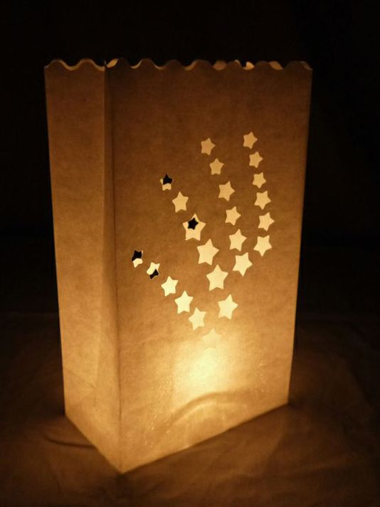 Shooting Star Paper Luminary Bags Path Lighting 10 Pack