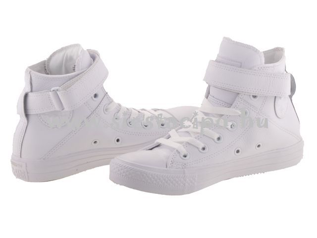 Vagány és nőies darab tavaszra, őszre, nyárra bőrből! http://www.siestacipo.hu/converse-chuck-taylor-all-star-brea-leather-feher-bor-cipo-35-40 #bestshoes #forwoman #converse