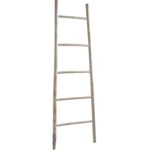 Échelle porte serviette en bambou Blanchi AUBRY GASPARD : prix, avis & notation, livraison.  Aspect : Coloris : BlancMatériau principal : Bambou patinéDimensions : Hauteur (en cm) : 150,00Longueur (en cm) : 50,00Autres caractéristiques : Poids (en kg) : 2,00 L'échelle en bambou se démarque de par son naturel et son esquisse minimaliste. Il a été conceptualisée pour....