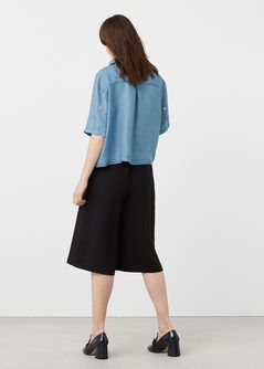 Soft denim overhemd