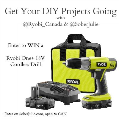 DIY Planter Table Project & WIN a Ryobi Drill - Sober Julie