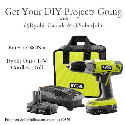 DIY Planter Table Project & WIN a Ryobi Drill - Sober Julie 06/18