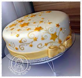 CHEIRINHO DE COISA BOA - Bolos decorados em Campinas SP: Bolo Estrelas douradas                                                                                                                                                                                 Mais