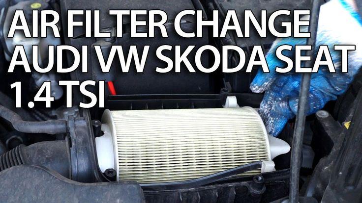 How to change air filter 1.4 TSI engine #Audi #VW #Skoda #Seat #cars