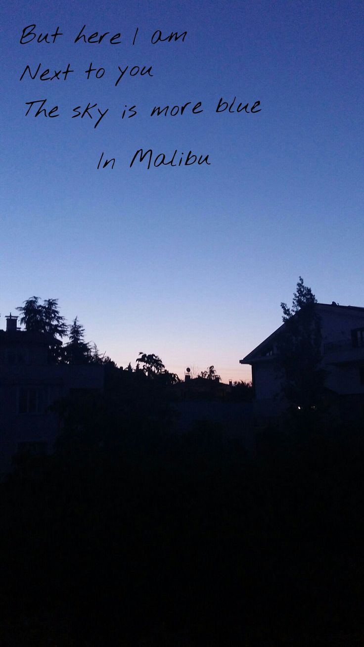 Miley Cyrus Malibu But here I am Next to you the sky is more blue in malibu wallpaper new song