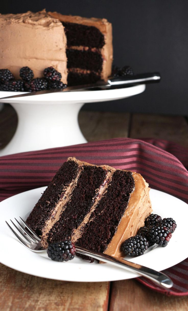 This Red Wine Chocolate Cake with Blackberries is delicious...queue the angels... I just may have stumbled on chocolate cake perfection.