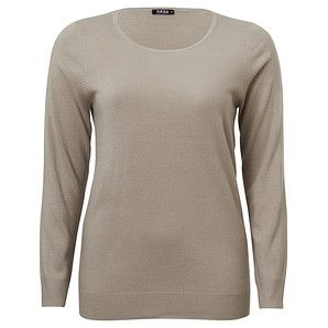 MODA Supersoft Scoop Neck Top - Simply Taupe