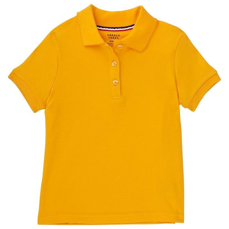 Girls 4-20 & Plus Size French Toast School Uniform Solid Polo, Size: 14-16 Plus, Drk Yellow