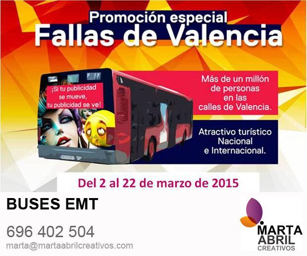 ¡Grandes ofertas para mover tu marca por Valencia a lo Grande!  Aprovecha las #Fallas , donde todo impacto se multiplica  www.martaabrilcreativos.com