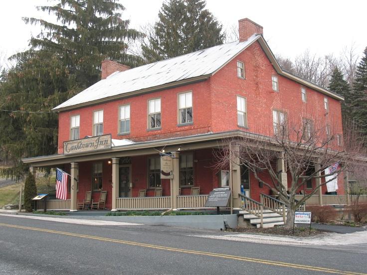 The famous haunted Cashtown Inn in Gettysburg, PA